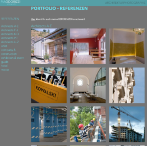 webpage Architekt